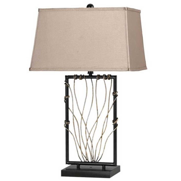 Wonderful Cal Lighting BO 2103TB Wave   One Light Table Lamp, Iron Finish     Amazing Design