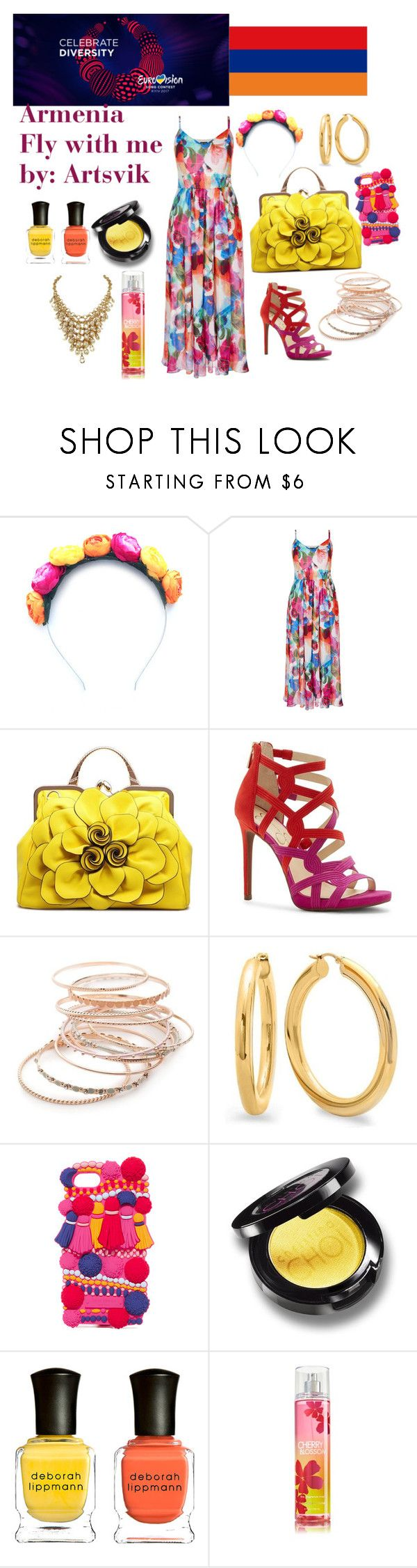 """""""Armenia Eurovision 2017"""" by grace-buerklin ❤ liked on Polyvore featuring Crown and Glory, Red Camel, Kate Spade, Deborah Lippmann and eurovision2017"""