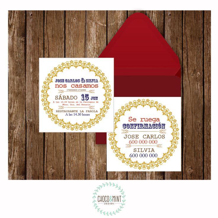 Nos casamos!! Diseño de invitación de boda por Choco&Mint