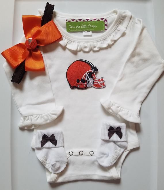 the latest f73f7 67ecf Cleveland browns baby girl outfit/cleveland browns baby ...