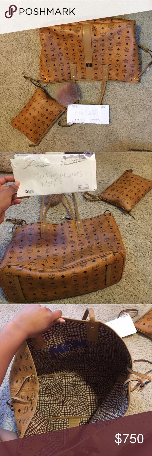 Large Liz MCM Bag and Personal bag Both 100% Authentic and in great condition. Please do not comment your number asking me to text you. I do not take cashier checks or fake Pal payments. PRICE FIRM!!! MCM Bags Totes
