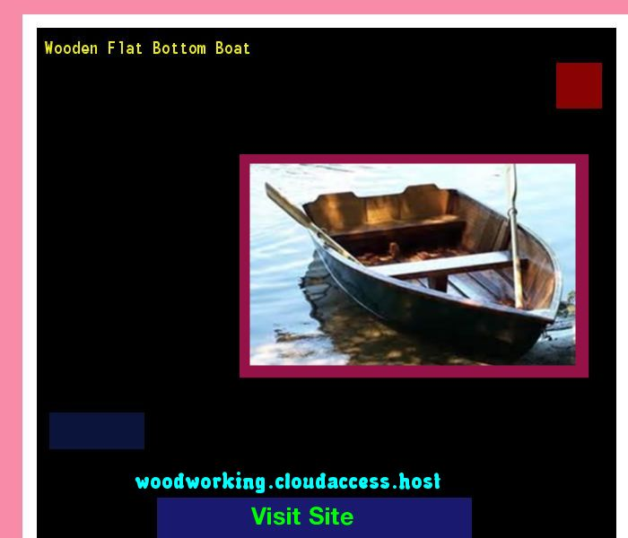 Wooden Flat Bottom Boat 073620 - Woodworking Plans and Projects!