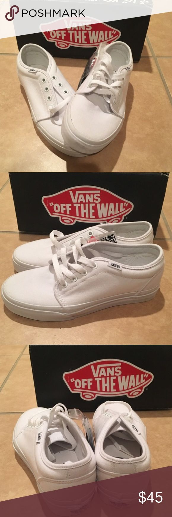 Vans 106 VULCANIZED SKATE SHOES New in box. White Vans Shoes Sneakers