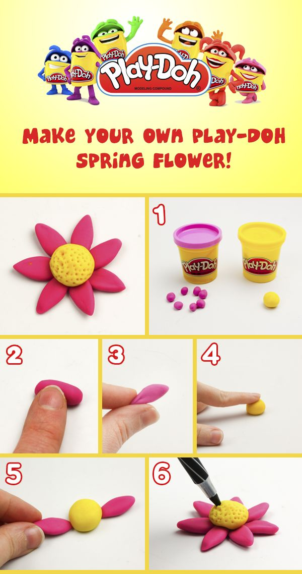 Learn to make some #PlayDoh #flowers!