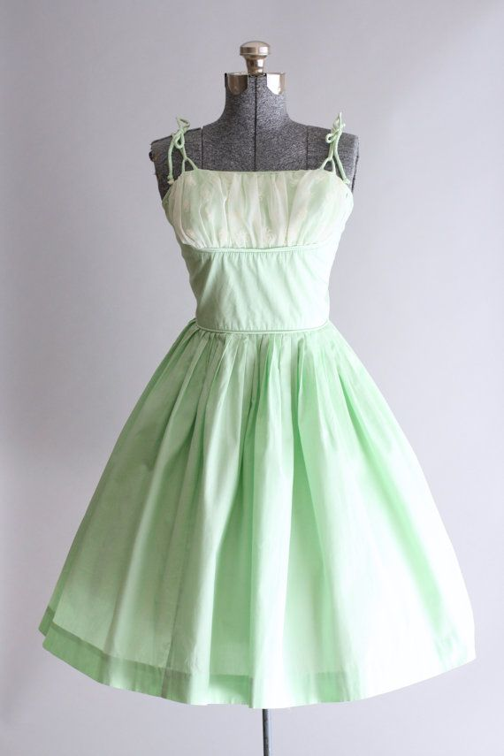 RESERVED....Vintage 1950s Dress / 50s Cotton by TuesdayRoseVintage