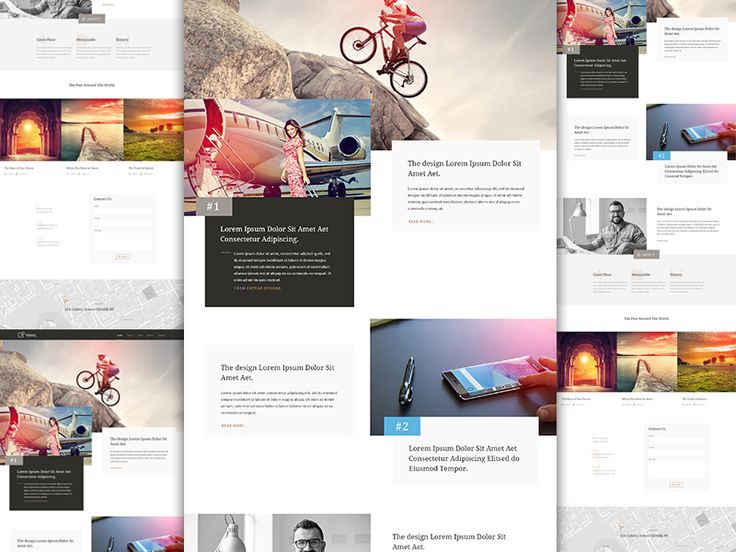Another Landing Page Design for travel agency.