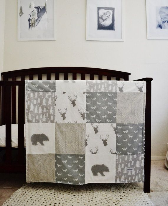 Bedding Set Rustic Woodland Themed Crib By Sleepinglakedesigns Baby Boy Bedding Sets Baby Boy Nursery Bedding Baby Bed