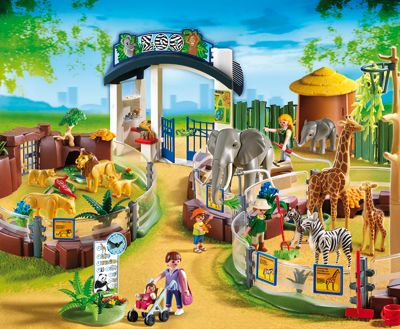 GRADINA ZOOLOGICABig Cities, Playmobil Large, Gift Ideas, Usa Playmobil, Large Zoos, Cities Zoos, Grand Zoos, Playmobil Zoos, Playmobil 4850