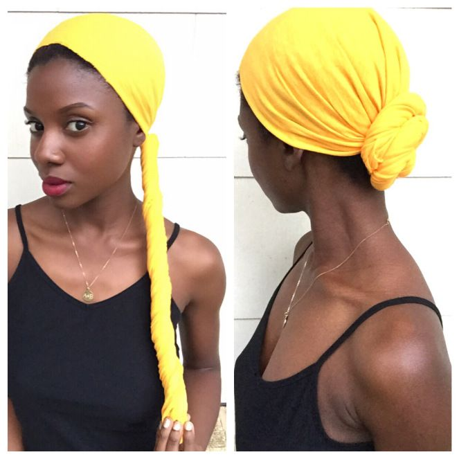 Old Tshirt  to Head Wrap  IG: Authentically.B  Head Wrap DIY Head wrap scarf Head wrap tutorial