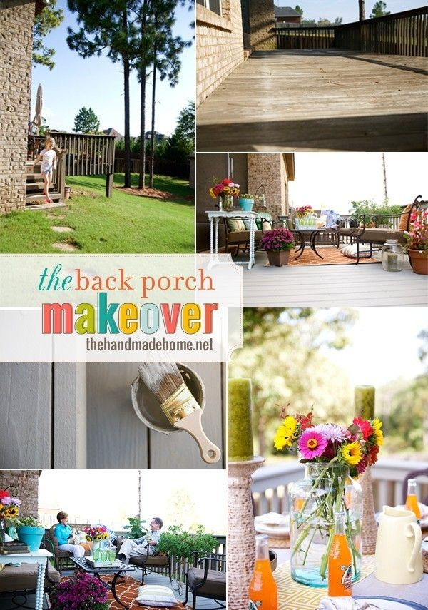 the back porch makeover {before & after} - the handmade home