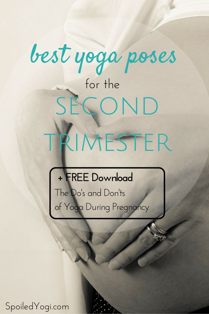 "Learn everything you need to know about practicing yoga during the second trimester of pregnancy. Plus click through to get a FREE Download 'The Do's and Don'ts of Yoga During Pregnancy"" to learn what to do for all three trimesters. 