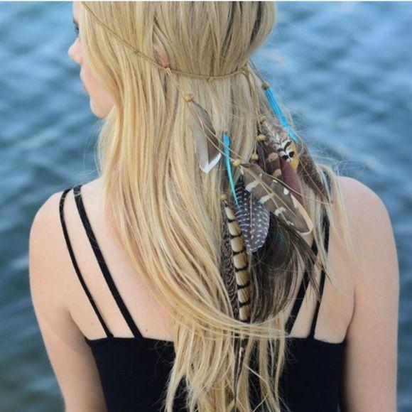 ❤️LAST TWO❤️Boho Braided Feather Head Wrap Women's boho braided feat…   – My Posh Picks