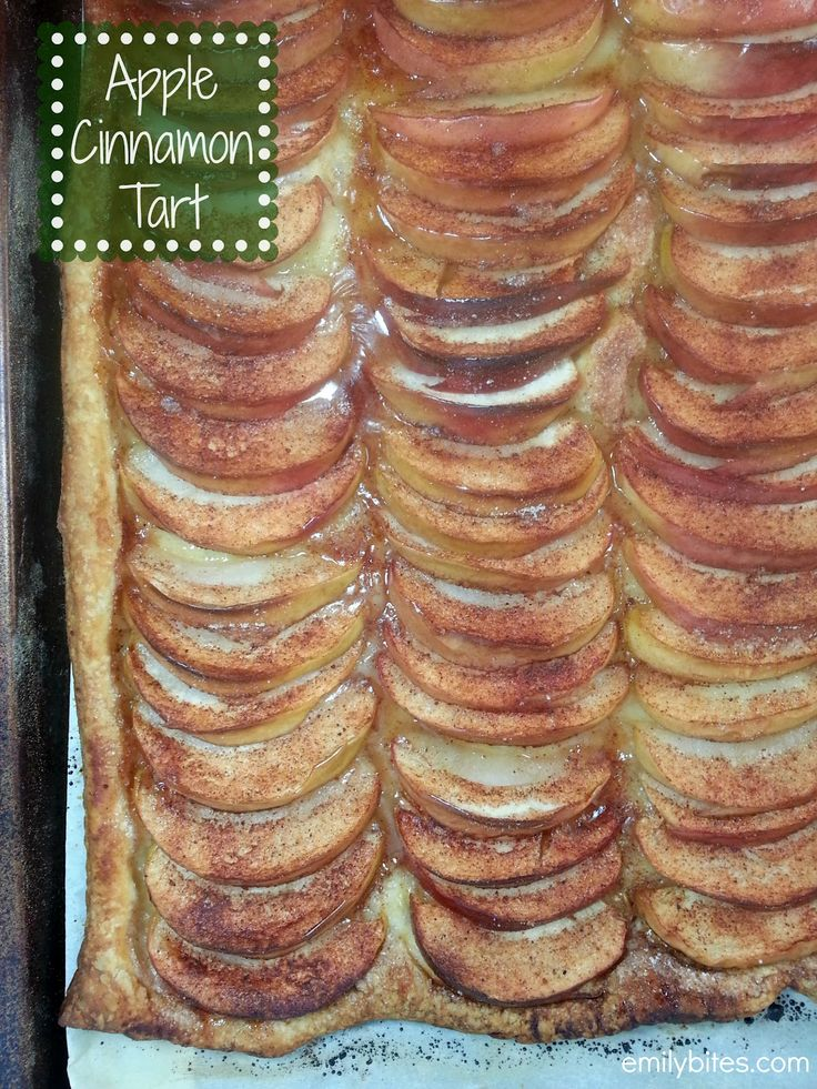 Emily Bites - Weight Watchers Friendly Recipes: Apple Cinnamon Tart