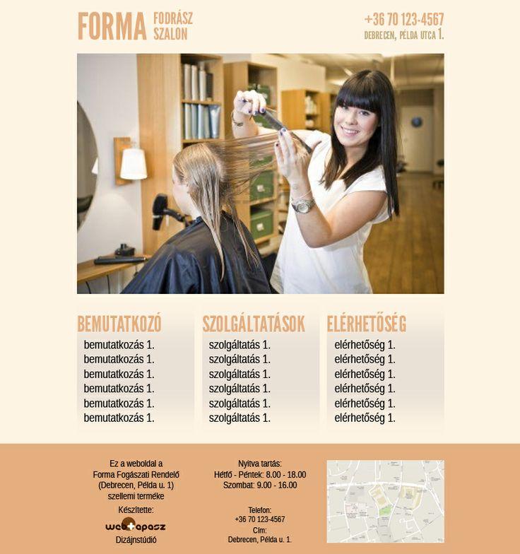 Fodrász stúdió sablon - Hair Salon Template  Meg nem valósult projekt / Never came to life
