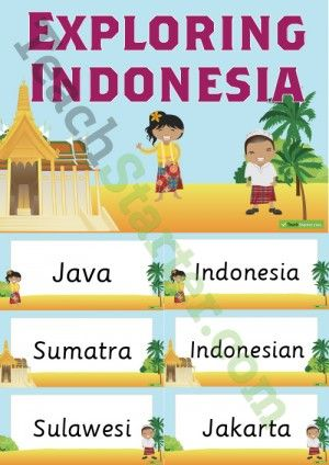 Exploring Indonesia Word Wall Vocabulary