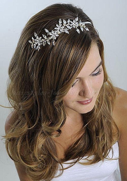 hair down wedding hairstyles, wedding hairstyles for long hair - hair down wedding hairstyle with headband