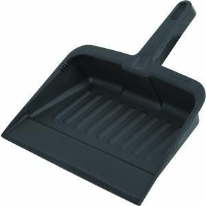 Rubbermaid Comm. FG200500CHAR Heavy-Duty Dust Pan by Rubbermaid. $6.29. dust pan. Deeper collection area to help reduce spillage. 12 1/4'' L. x 8 1/4'' W. x 2 5/8'' D. Color: Charcoal.