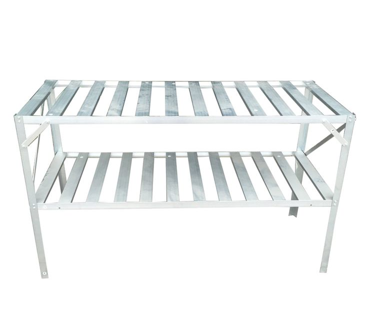 FoxHunter Garden Greenhouse Staging Shelving Shelves Bench Aluminium Metal  Storage Shelf 2 Tier Silver: Amazon