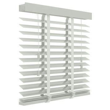 GAMMA horizontale jaloezie hout 50 mm 944 wit 140x180 cm | Houten jaloezieën | Raamdecoratie | GAMMA