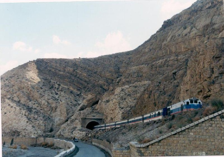 Train near Quetta, Balochistan, Pakistan.