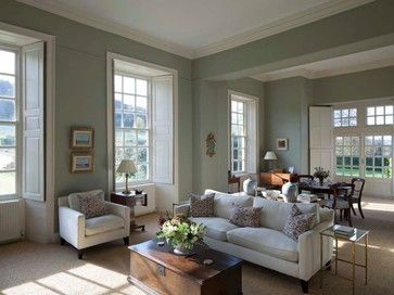 Farrow and Ball Lulworth Blue (#89): Drawings Rooms, Wall Colour, Living Rooms Design, Drawing Room, Green Wall, Wall Color, Interiors Design, Paintings Color, Traditional Living Rooms