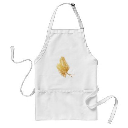 Gold palm leaf tropical apron - gold gifts golden customize diy