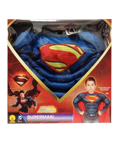Little ones will love dressing up as Superman in this soft muscle-bound top and removable logo-printed cape. With such a convincing, crime-fighting design, it's sure to generate hours of superhero make-believe.Includes top and cape100% polyesterHand washImported
