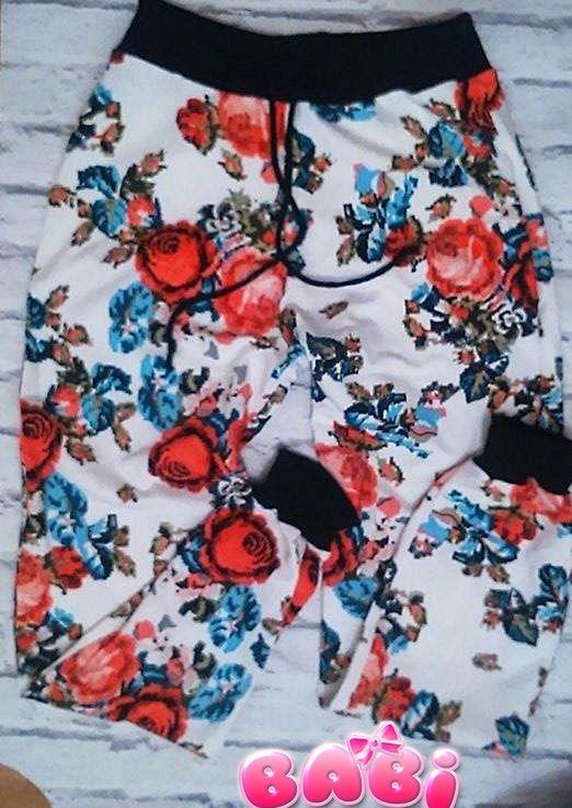 Spodnie dla mamy!-róże haftowane opaski-babi