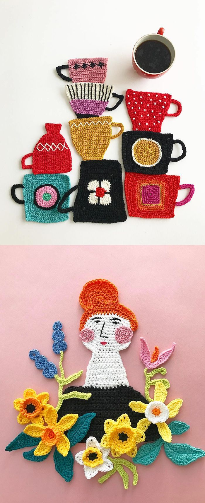 Crochet art by Tuija Heikkinen // crochet // fiber art // embroidery illustration