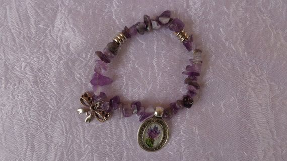 Purple Confusion Bracelet No2. A stretch by ArtisticBreaths,....