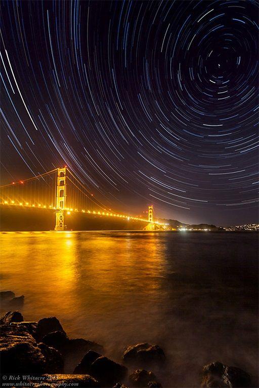 Noche Golden Gate San Francisco