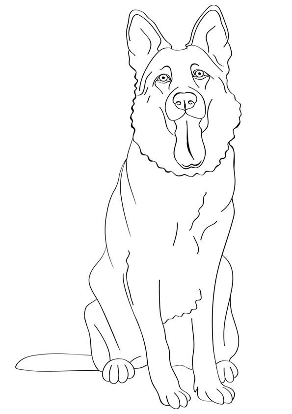 free printable dogs and puppies coloring pages for kids - Kids Painting Pages