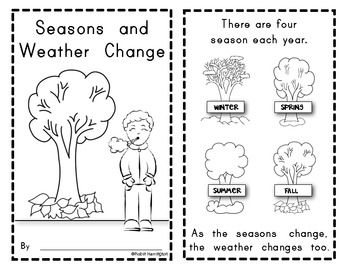 Weather and Seasons Change (SCIENCE) Emergent Reader for Young students. Great for science AND sight words! $