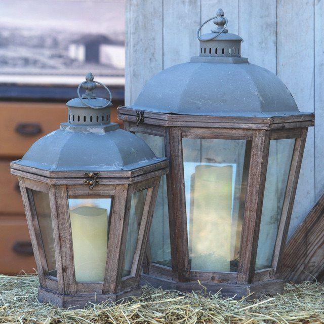 French Quarter Candle Lanterns, Set of 2