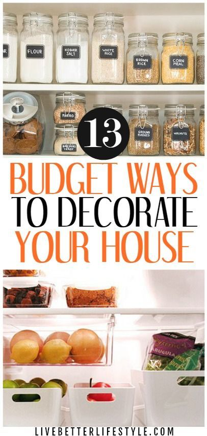 13 Ideas for Decorating a House on a Budget #archi…