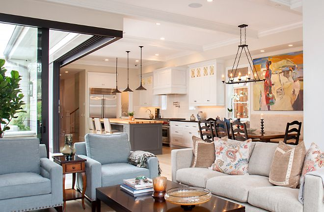 633 best images about great rooms on pinterest coastal for Open concept house
