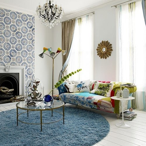 beautiful patchwork sofa via House and Home UK