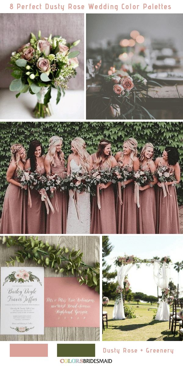 8 Perfect Dusty Rose Wedding Color Palettes for 2019  I