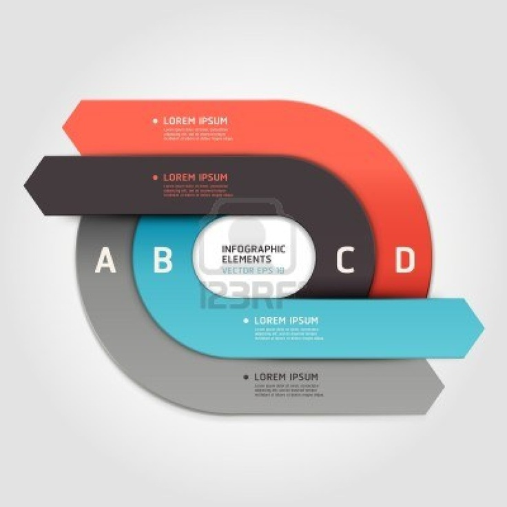 Modern arrow circle step up options banner Vector illustration can be used for workflow layout, diagram, number options, web design, infographics Stock Photo