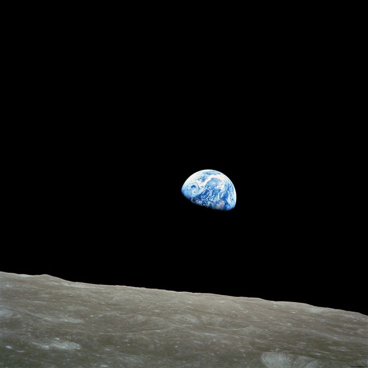 Earthrise: A photo taken by astronaut William Anders during the Apollo 8 mission in 1968