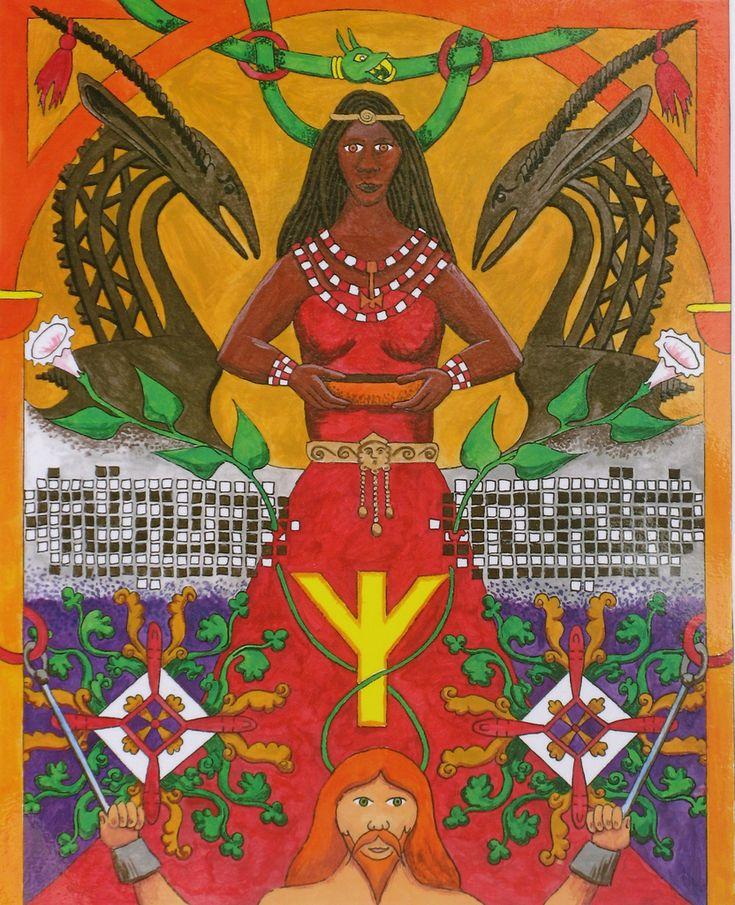 Sigyn - A esposa de Loki. Sygin é a primeiro mortal a dar oferendas ao deus do trovão e foi recompensado com o cargo de governanta no salão de Thor em Godhome. Para combinar com início da história da humanidade, ela é Africano. Isto está de bem com os mitos nórdicos que descrevem Loki como sendo vermelho (presumivelmente justa e de cabelo vermelho) e sua família ser muito escuro.