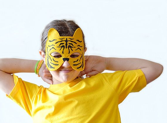 Tiger Children Mask Kids Carnival Mask Halloween by BHBKidstyle