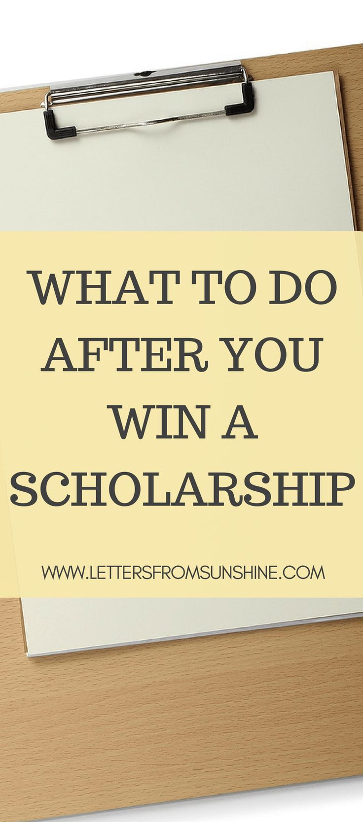 What To Do After You Win A Scholarship  There Are Plenty Of Articles That  Reveal