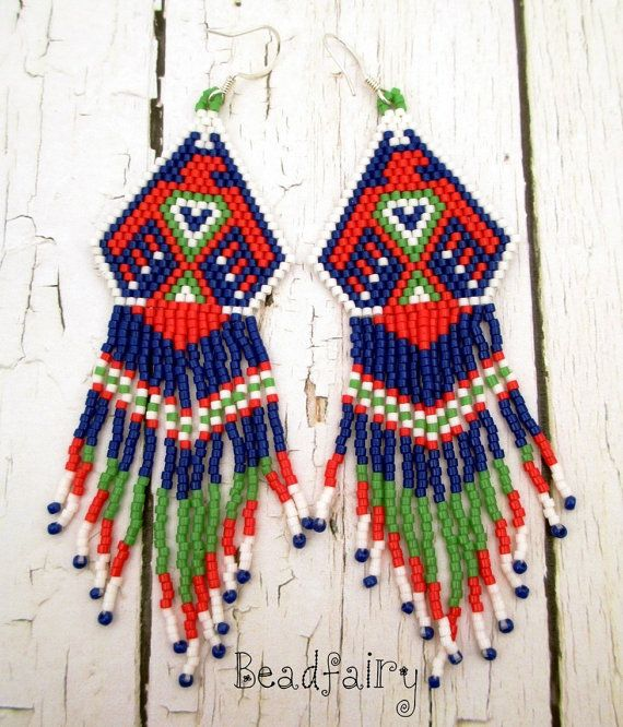 Eagle Dancer Earrings by BeadfairyStore on Etsy