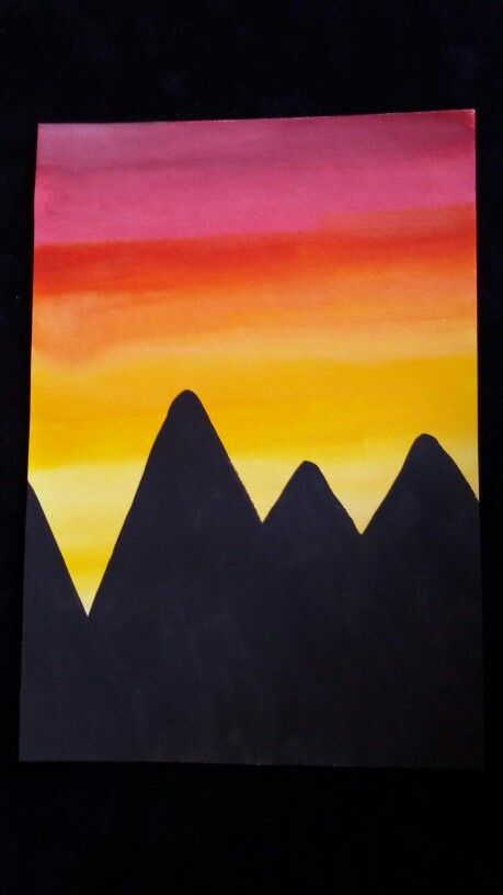 Mountains & sun
