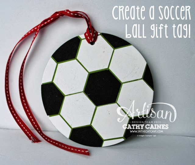 Soccer Ball Gift tag by Cahty Caines  @Stampin' Up!