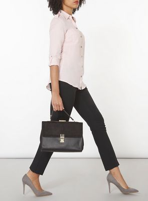 Dorothy Perkins Black straight leg trousers | Debenhams