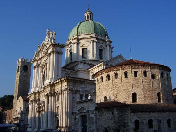 Brescia, Italy - The Old and the New Cathedral
