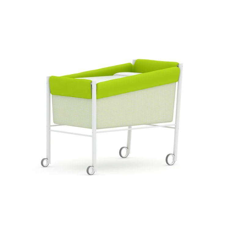 Moti Minicuna moderna Coli Mini cuna moderna Coli de Moti. Fabricada en madera de haya y acero con ruedas anti ruido. Perfecta para llevarte a tu bebé...