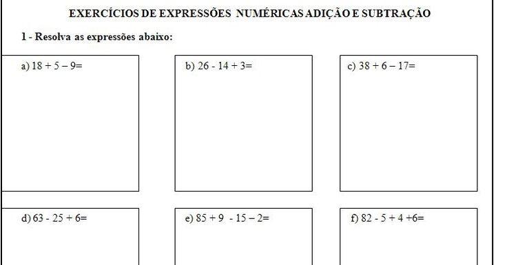 Vamos começar com matemática?     EXPRESSÕES NUMÉRICAS   Uma expressão numérica é como se alguém tivesse anotado, em uma única linha, de ...